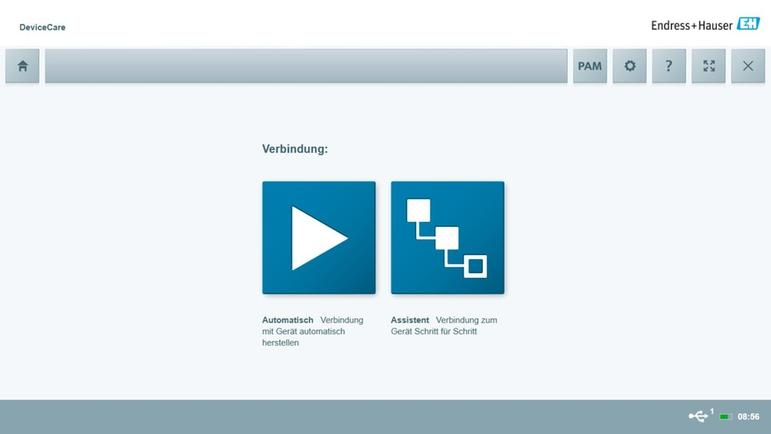 Devicecare Sfe100 Konfiguration Von Endresshauser Geräten
