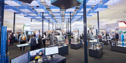 Endress+Hauser Stand an einer Messe